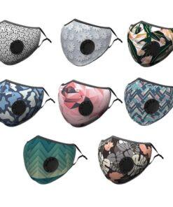 Masque en tissu lavable avec filtre et boucle respirante