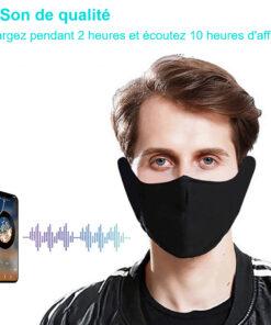Masque facial en tissu avec écouteurs Bluetooth intégré